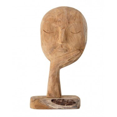 Escultura cara madera reciclada
