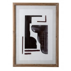 Lámina abstracta figuras negras
