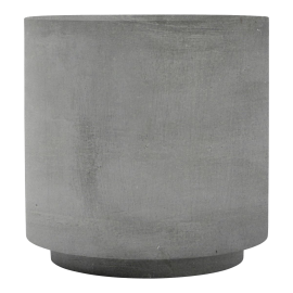 Mesa auxiliar cemento. ø50 cm.