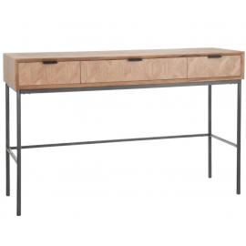 Consola natural de madera 120x40x77cm
