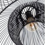Lámpara de techo negra metal