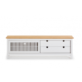 MUEBLE TV BRUNA EN COLOR BLANCO 158 40 X 49.6 CM