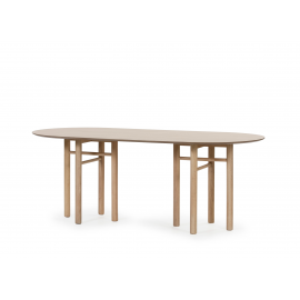 MESA OVAL JUNCO NATURAL CLARO 200 X 100 X 75 CM