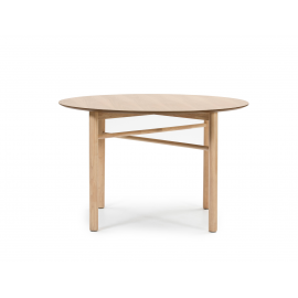 MESA REDONDA JUNCO NATURAL CLARO 120 X 120 X 75 CM