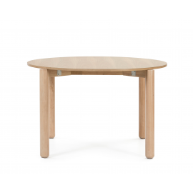 MESA REDONDA ATLAS NATURAL CLARO 125.3 X 120 X 75.2 CM