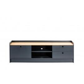 MUEBLE TV MONTE 1 PTA CORR/2C GRIS LSB501/CERA 160 X 37 X 51 CM