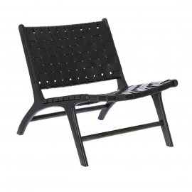 Butaca Calixta negro 65x76x70 cm