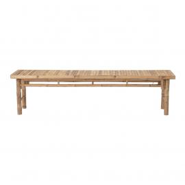 Banco de bamboo natural 180 x 46 x 45 cm