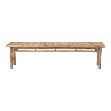 Banco de bamboo natural 180 x 46 x 45 cm