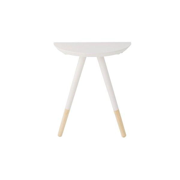 Mesita noche o auxiliar blanca para apoyar en la pared for Sillas blancas con patas de madera