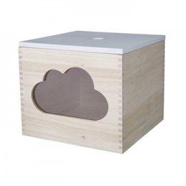 Caja de almacenamiento con nube.
