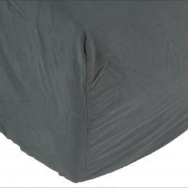 Sábana bajera Son de algodón lavado a la piedra Antracita. Varios tamaños.