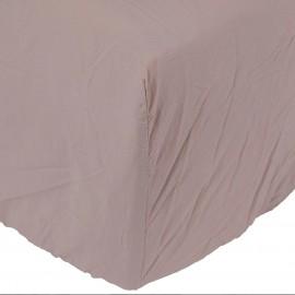 Sábana bajera Son de algodón lavado a la piedra color nude. Varios tamaños.
