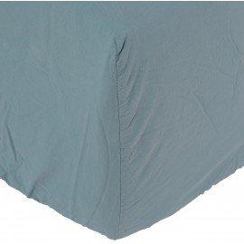 Sábana bajera Son de algodón lavado a la piedra azul calma. Varios tamaños.
