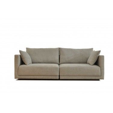 sofá modular en color topo oscuro.