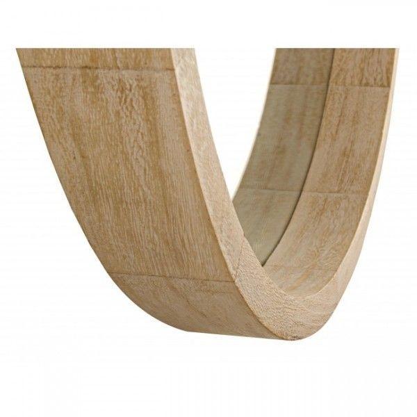 Espejo redondo con marco de madera natural paulonia for Espejos de pared con marco de madera