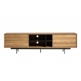 MUEBLE TV BEATRIZ ROBLE W / NEGRO 180 X 40 X 50 CM