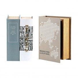 Almacenamiento secreto en forma de libro.