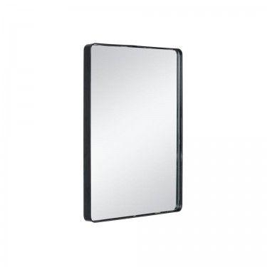 Espejo rectangular negro con marco de metal dimensi n for Espejo rectangular con marco