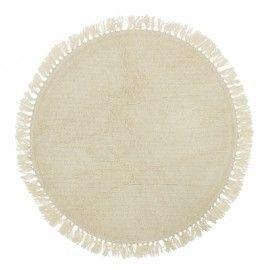 Alfombra de lana. 110(d) cm.