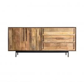 BUFFET EN COLOR NEGRO/NATURAL EN MADERA DE MANGO 170 X 45 X 81 CM