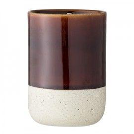 Vaso de baño marrón