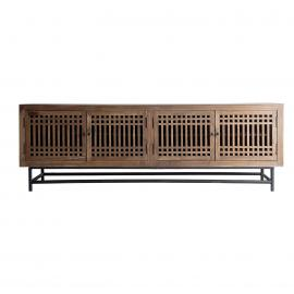 MUEBLE TV XUZHOU EN COLOR NATURAL, DE ESTILO VINTAGE 200 X 45 X 65 CM