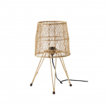 Lámpara de mesa en ratán. ø25x48cm
