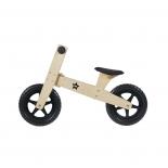 Bicicleta de madera sin pedales.