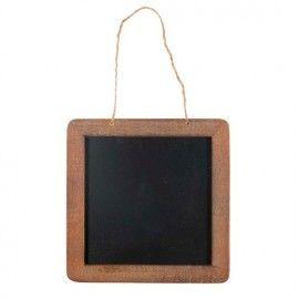 Pizarra con borde en madera.
