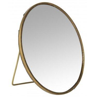 Espejo redondo con pie