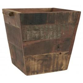 Maceta cuadrada de madera.