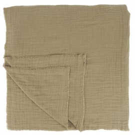 Mantel beige de algodón 240 x 240 cm