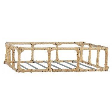 Servilletero con borde de bambú