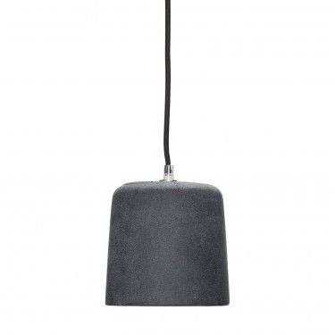 Lámpara negra de hormigón.