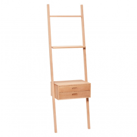 Estantería de escalera en roble. 52x41x180 cm.