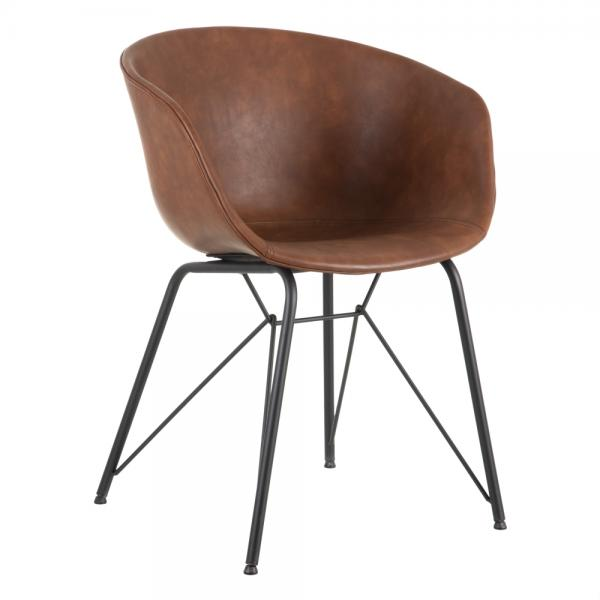 silla madera metal camel