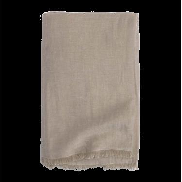 Plaid algodón en color topo.