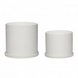 Macetero cerámica blanca. Varios tamaños.