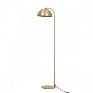 Lámpara de pie Mette dorada.