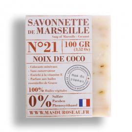 Pastilla jabón de marsella coco 100% ecológico.