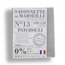 Pastilla jabón marsella patchouli 100% ecológico.