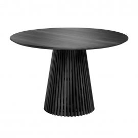 IRUNE Mesa Ø 120 cm madera negro