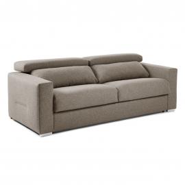 QUEEN Sofá cama reclinable 140 colchón poliuret marrón