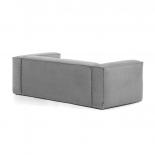 Sofá Blok 3 plazas pana gris 240 cm