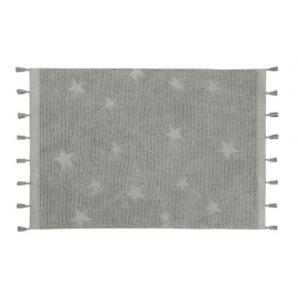 Alfombra Lavable Hippy Stars Grey 120x175