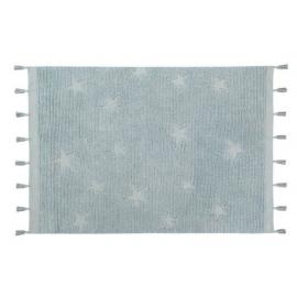 Alfombra Lavable Hippy Stars Aqua Blue 120x175