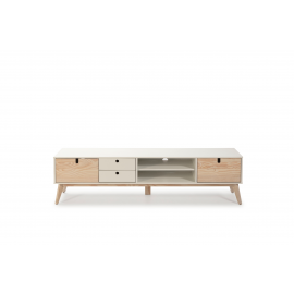 MUEBLE TV KIARA BLANCO/NATURAL 180 X 37 X 48,8 CM