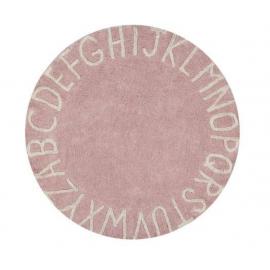 Alfombra Lavable Round ABC Vintage Nude Natural ø150
