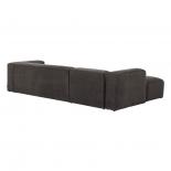 Sofá Blok 3 plazas chaise longue izquierdo gris 330 cm